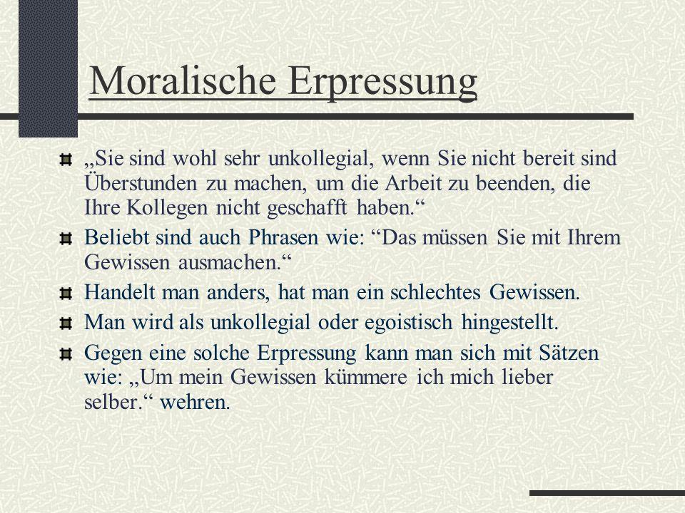 Moralische Erpressung