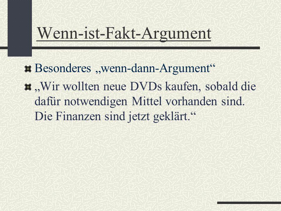 Wenn-ist-Fakt-Argument