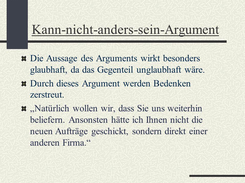 Kann-nicht-anders-sein-Argument