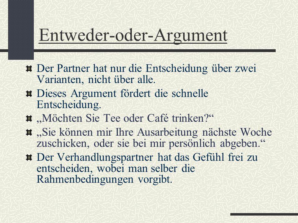 Entweder-oder-Argument