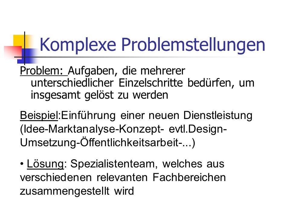 Komplexe Problemstellungen