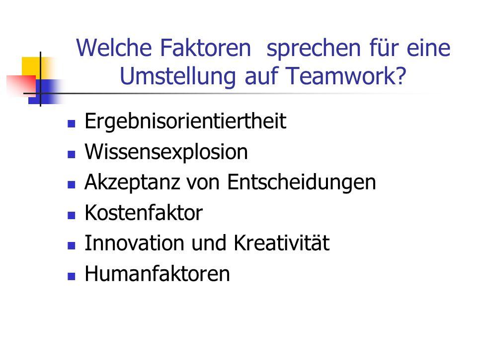 Welche Faktoren sprechen für eine Umstellung auf Teamwork