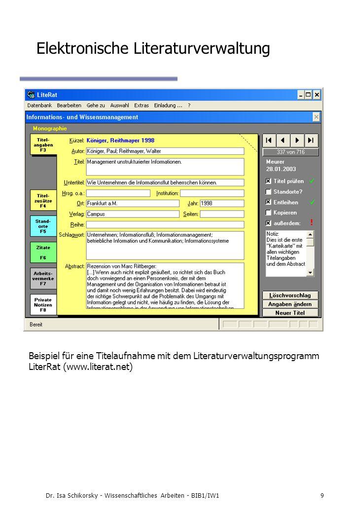 Elektronische Literaturverwaltung