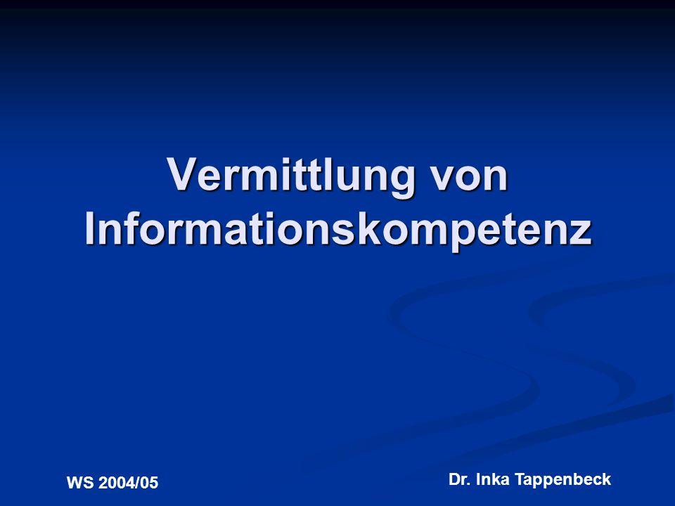 Vermittlung von Informationskompetenz