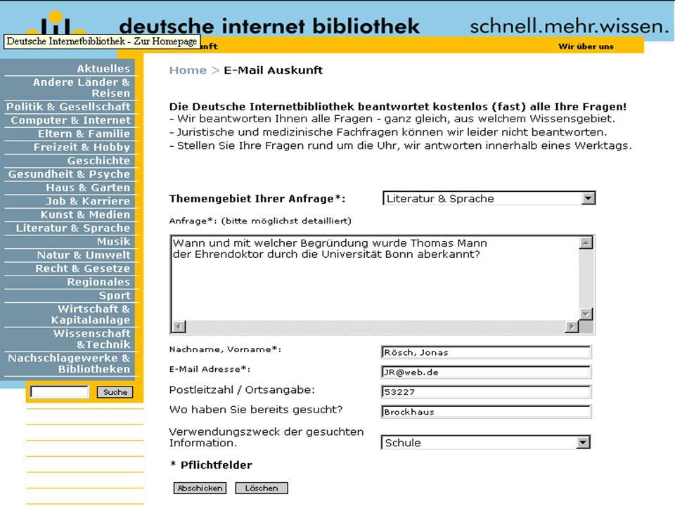 Hermann Rösch: Digitale Auskunft