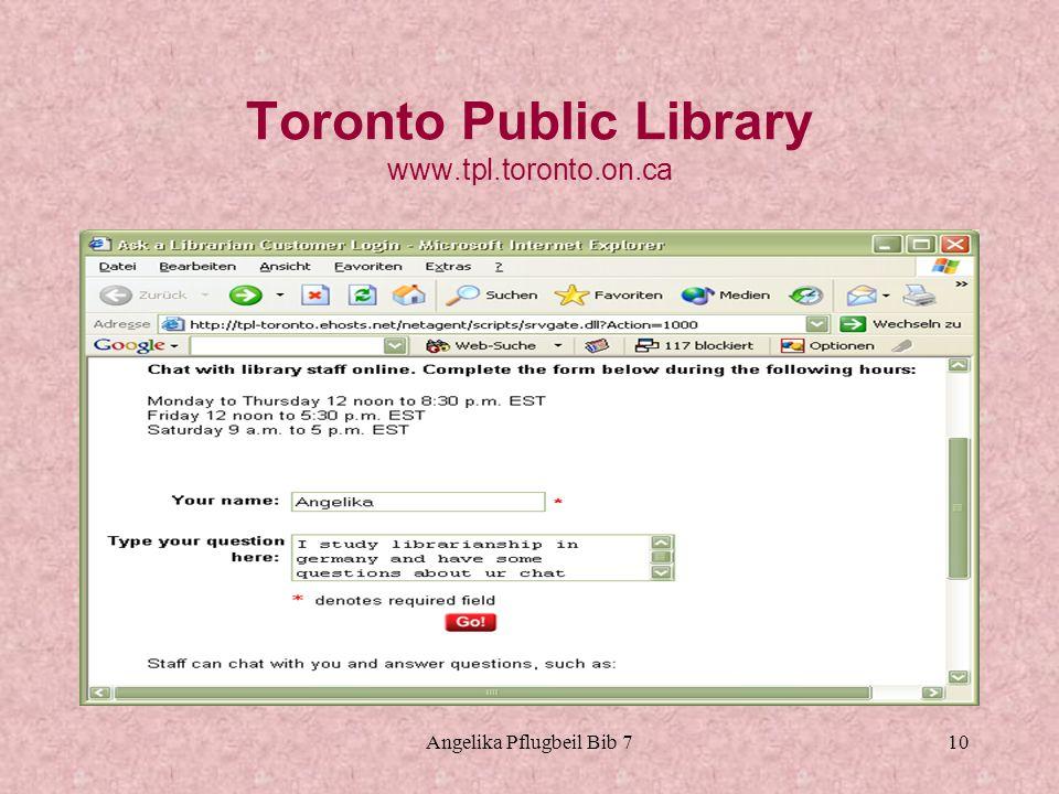 Toronto Public Library www.tpl.toronto.on.ca