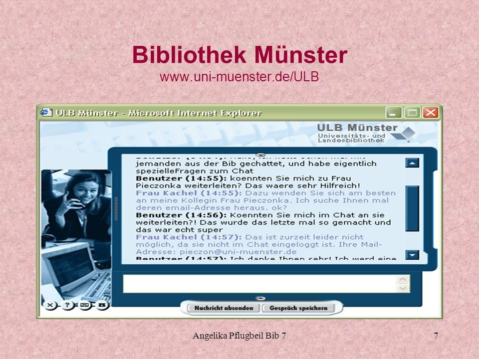 Bibliothek Münster www.uni-muenster.de/ULB