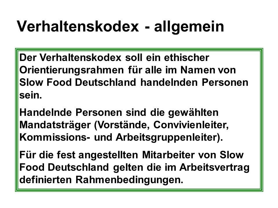 Verhaltenskodex - allgemein