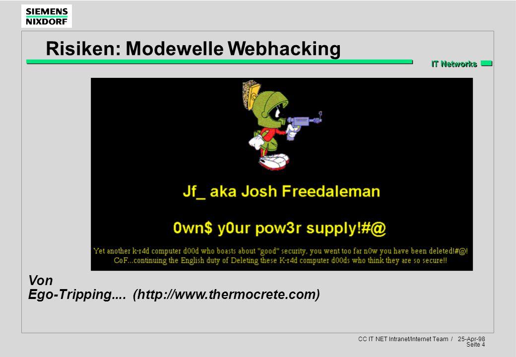 Risiken: Modewelle Webhacking