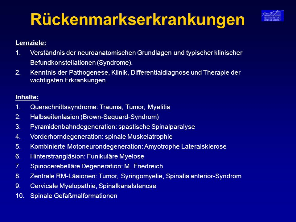 Rückenmarkserkrankungen
