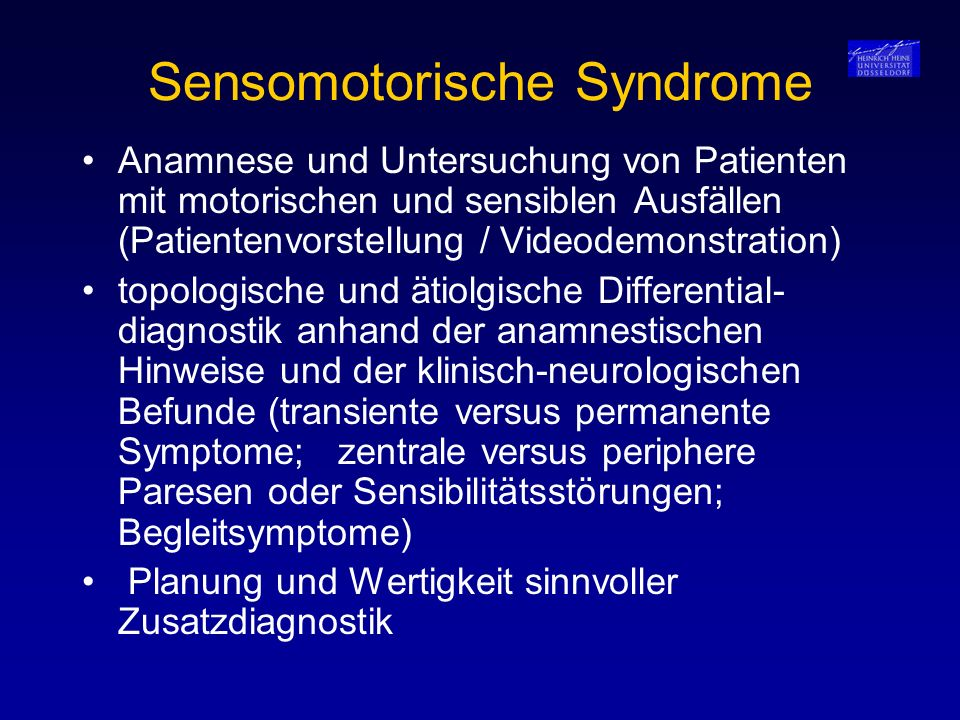 Sensomotorische Syndrome