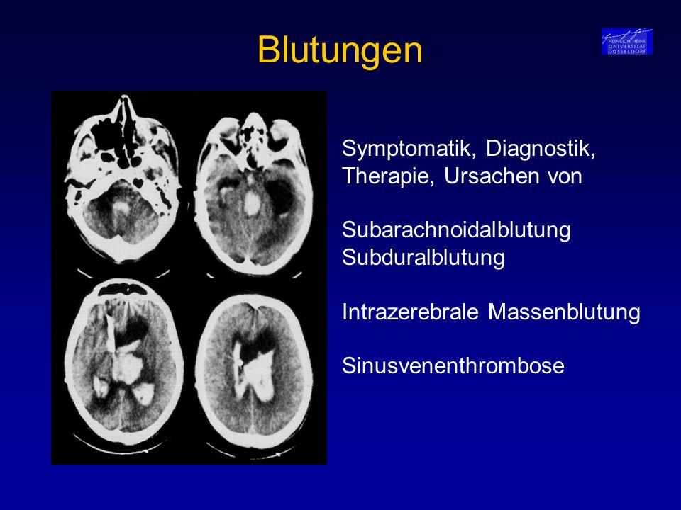Blutungen Symptomatik, Diagnostik, Therapie, Ursachen von