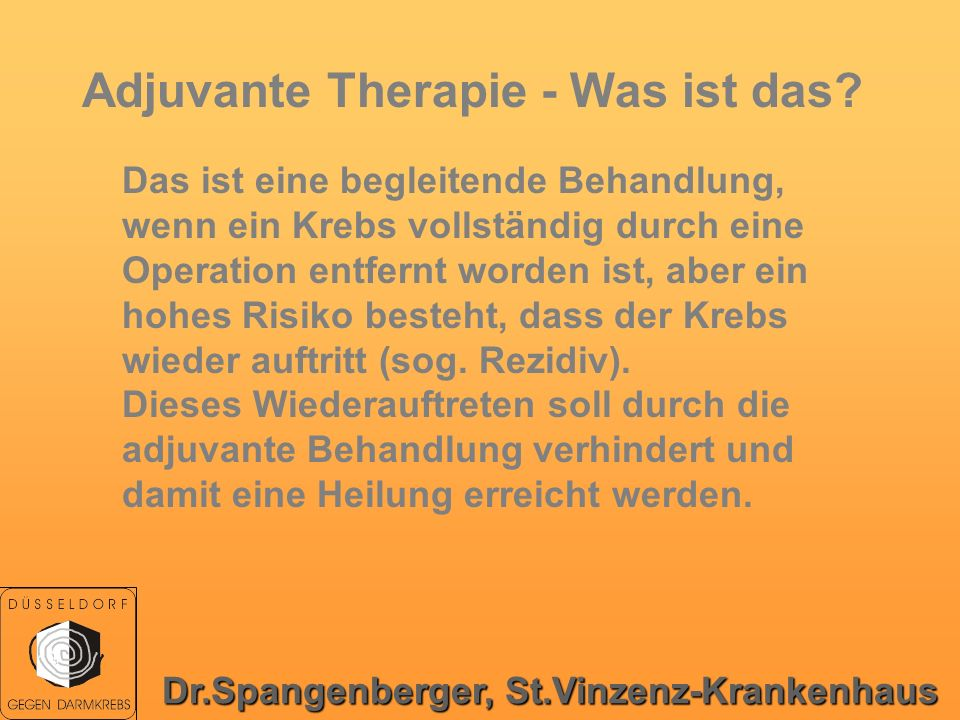 Adjuvante Therapie - Was ist das