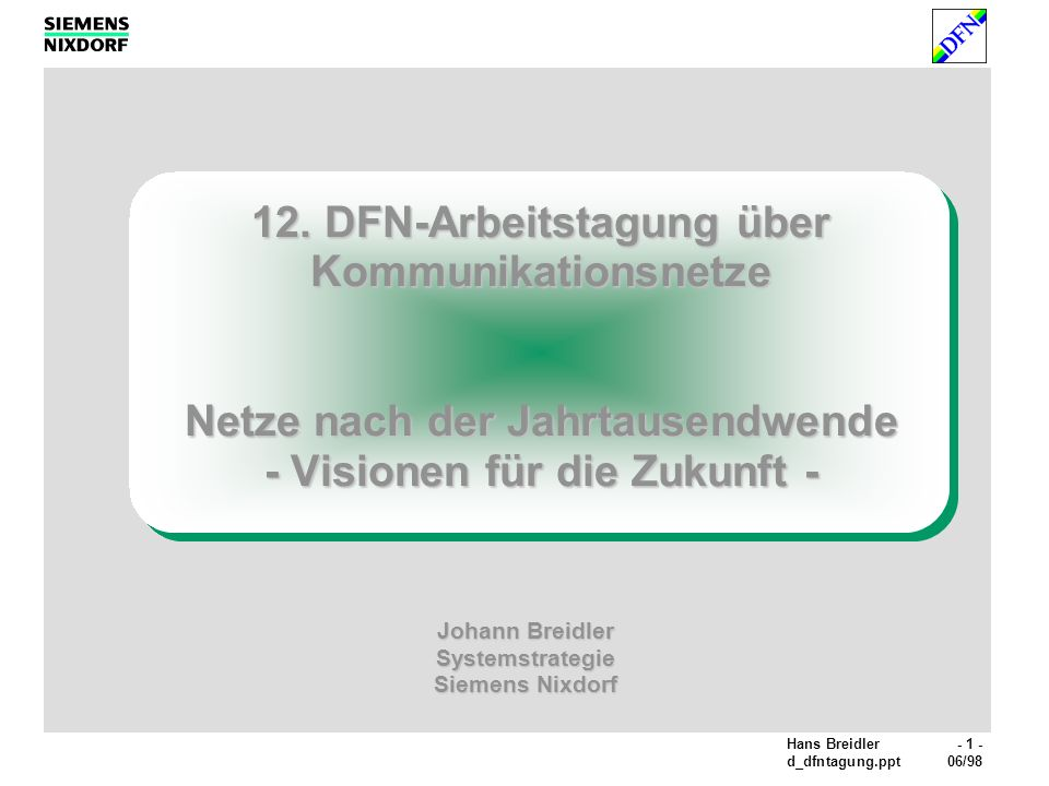 Johann Breidler Systemstrategie Siemens Nixdorf