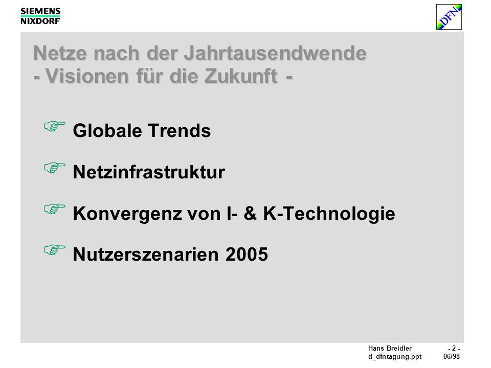 Netze nach der Jahrtausendwende - Visionen für die Zukunft -