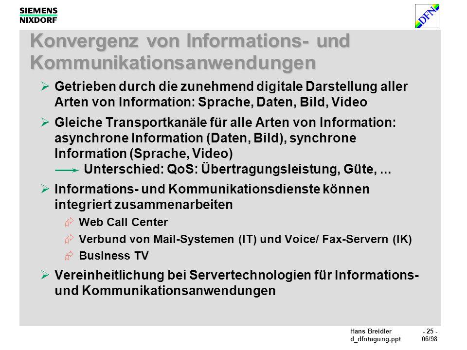 Konvergenz von Informations- und Kommunikationsanwendungen