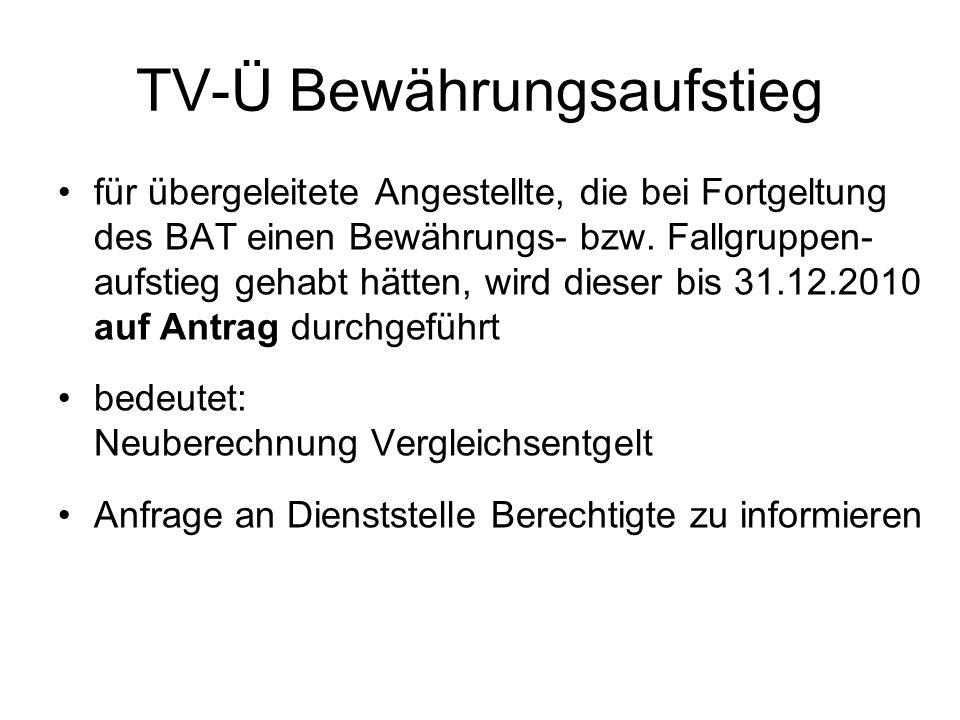 TV-Ü Bewährungsaufstieg