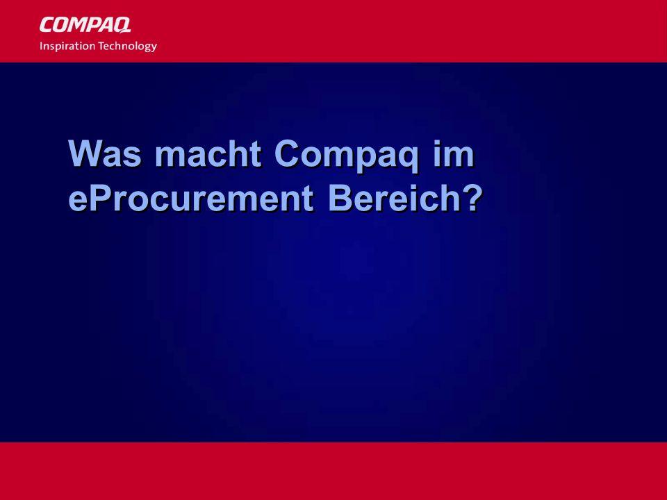 Was macht Compaq im eProcurement Bereich