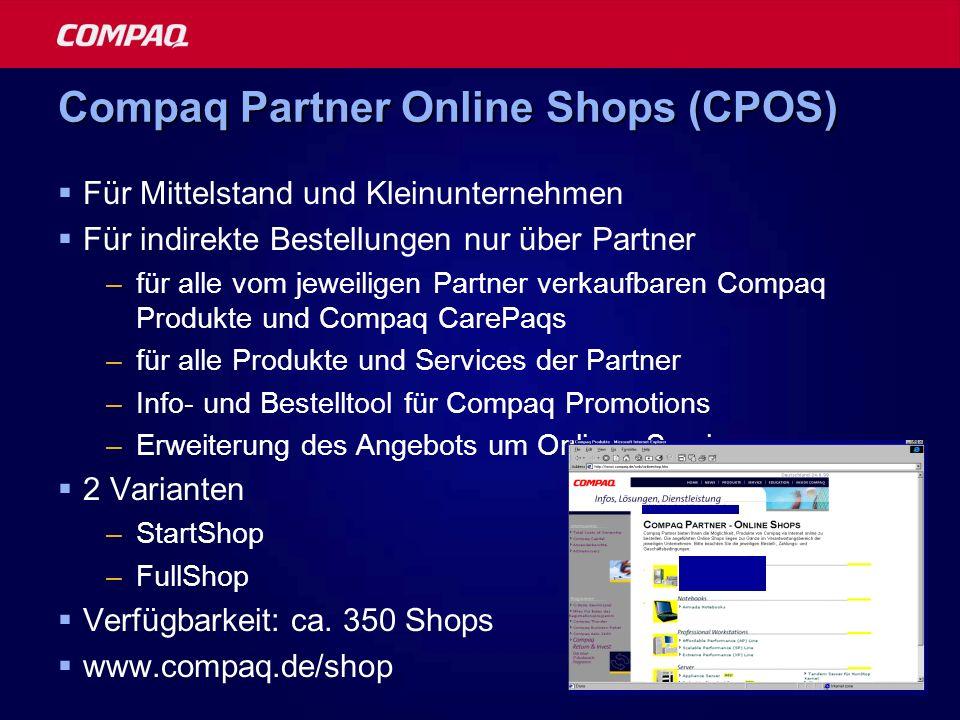Compaq Partner Online Shops (CPOS)