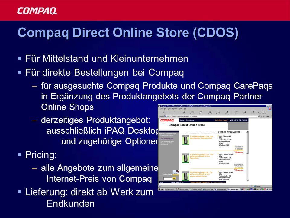 Compaq Direct Online Store (CDOS)