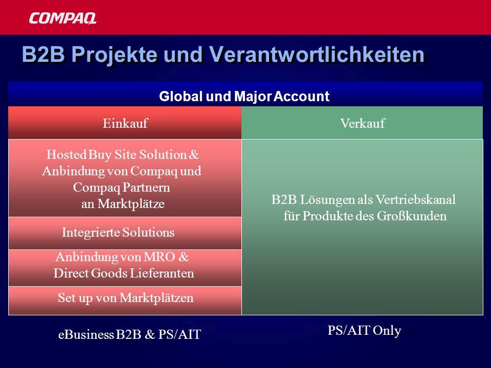 B2B Projekte und Verantwortlichkeiten