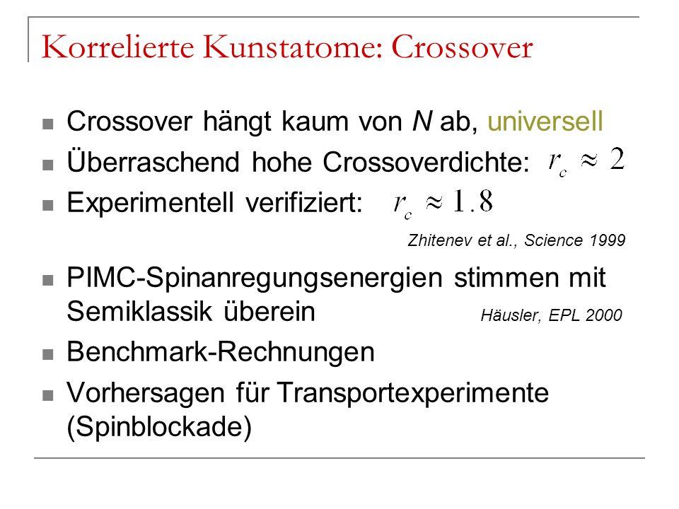 Korrelierte Kunstatome: Crossover