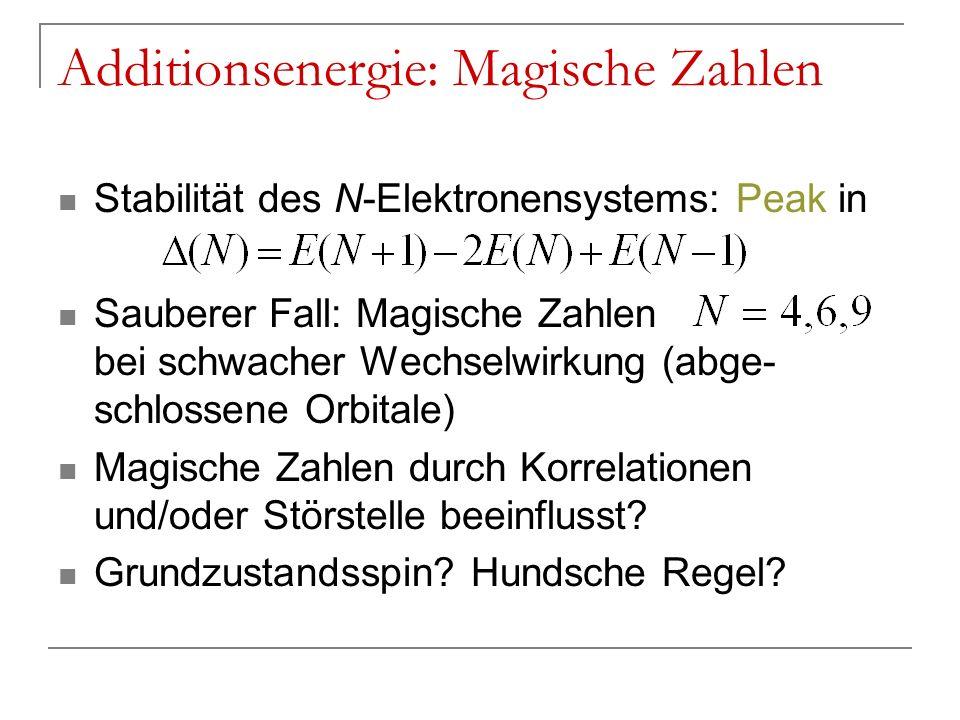 Additionsenergie: Magische Zahlen