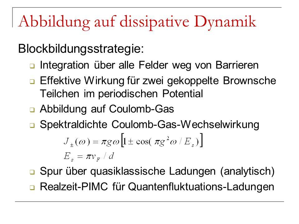 Abbildung auf dissipative Dynamik