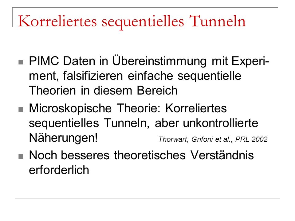 Korreliertes sequentielles Tunneln