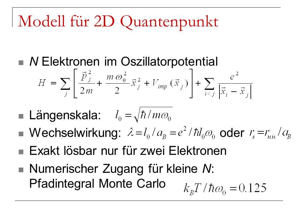 Modell für 2D Quantenpunkt