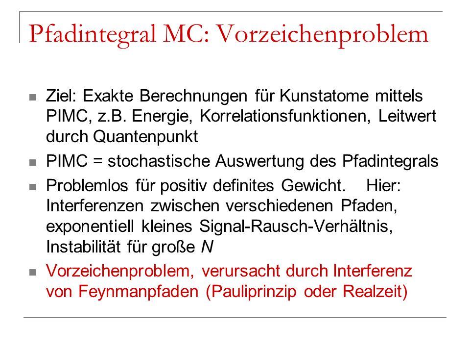 Pfadintegral MC: Vorzeichenproblem