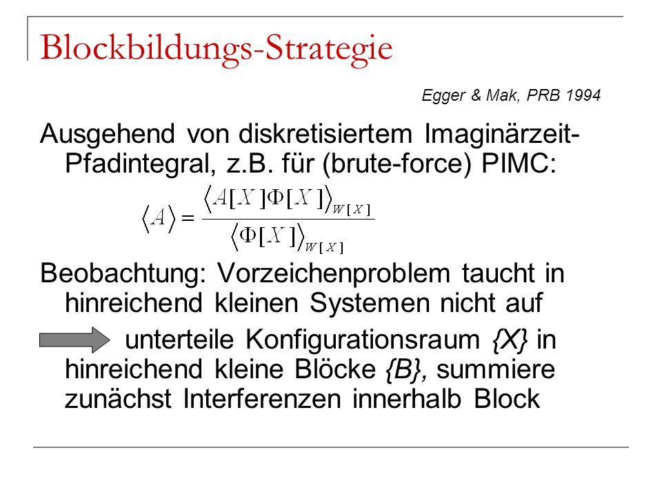 Blockbildungs-Strategie