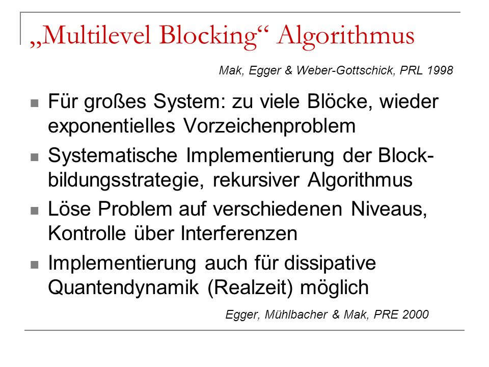 """Multilevel Blocking Algorithmus"