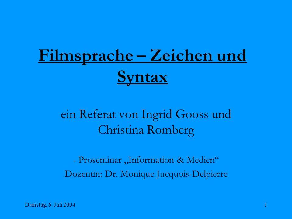 Filmsprache – Zeichen und Syntax