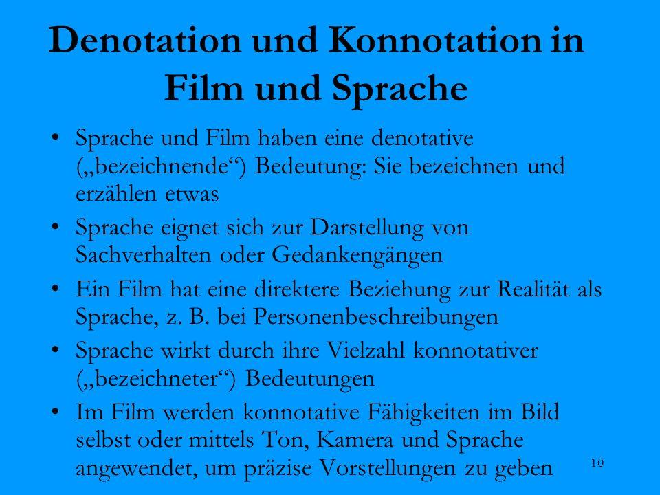 Denotation und Konnotation in Film und Sprache