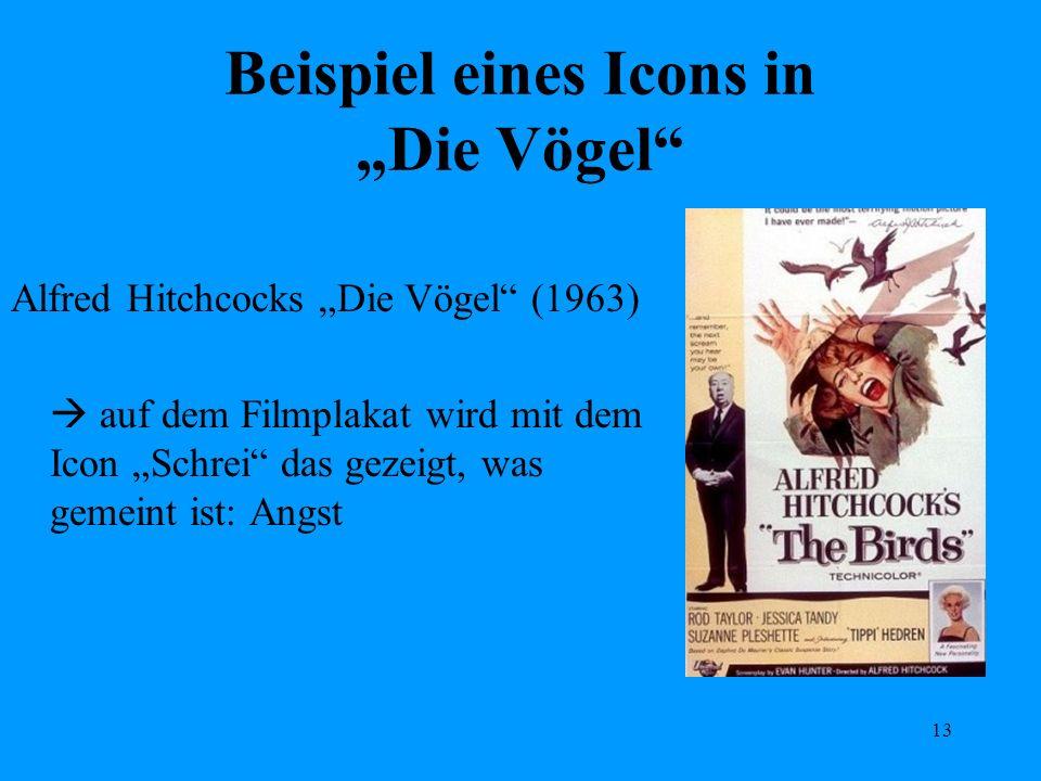 "Beispiel eines Icons in ""Die Vögel"