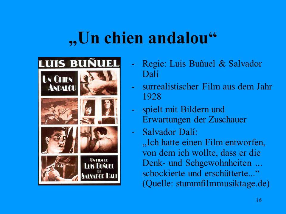 """""""Un chien andalou Regie: Luis Buñuel & Salvador Dalí"""