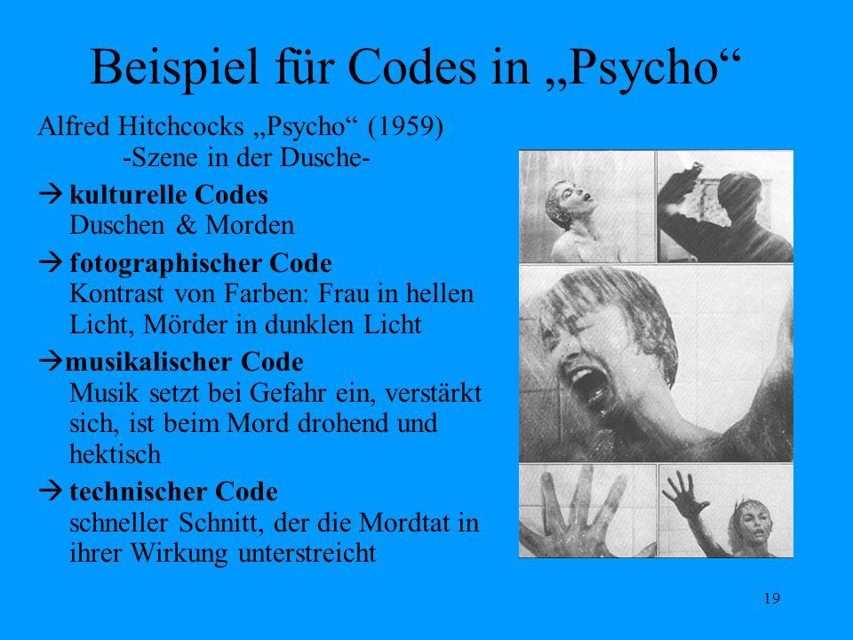 """Beispiel für Codes in """"Psycho"""