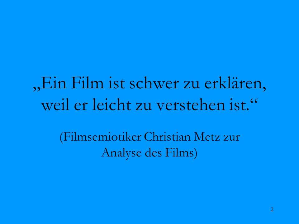 """""""Ein Film ist schwer zu erklären, weil er leicht zu verstehen ist."""