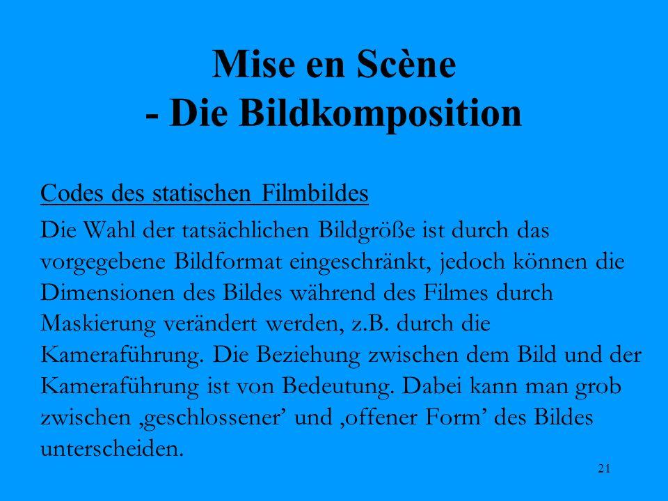 Mise en Scène - Die Bildkomposition