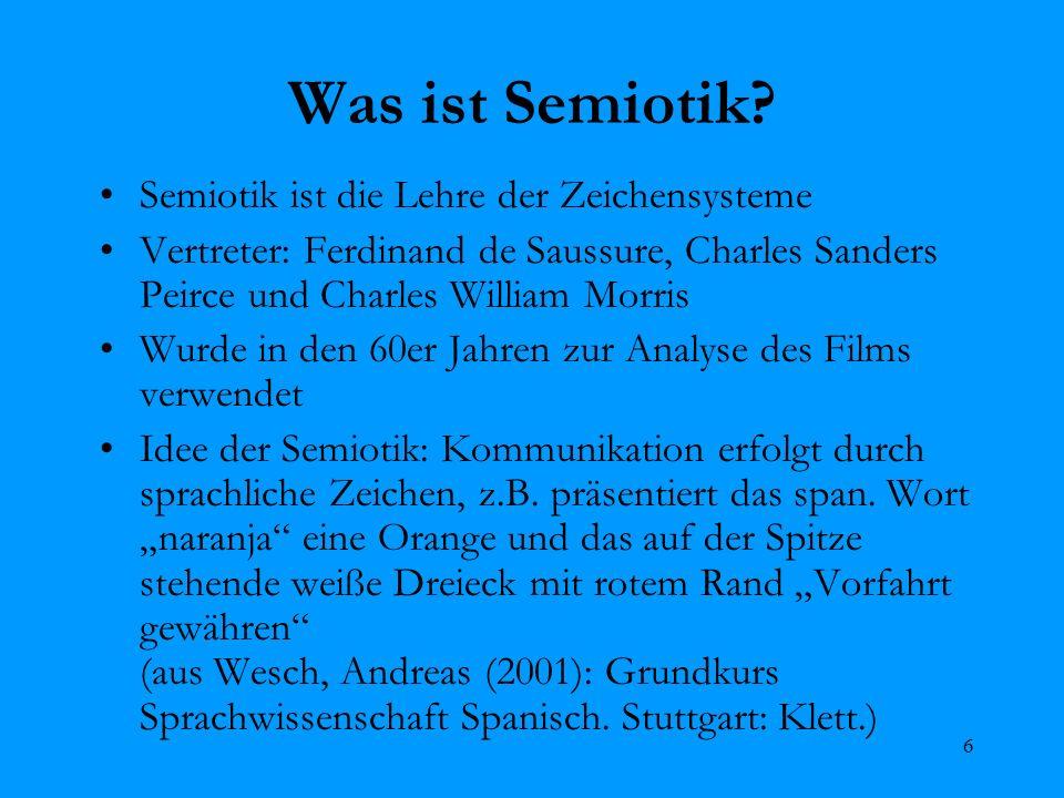 Was ist Semiotik Semiotik ist die Lehre der Zeichensysteme