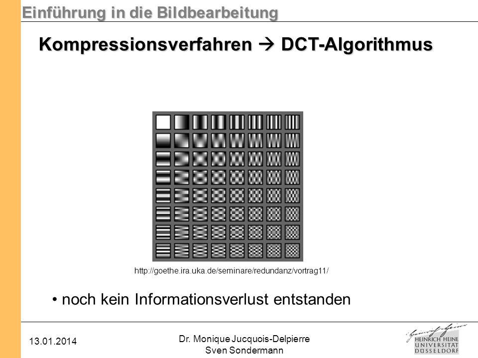 Kompressionsverfahren  DCT-Algorithmus