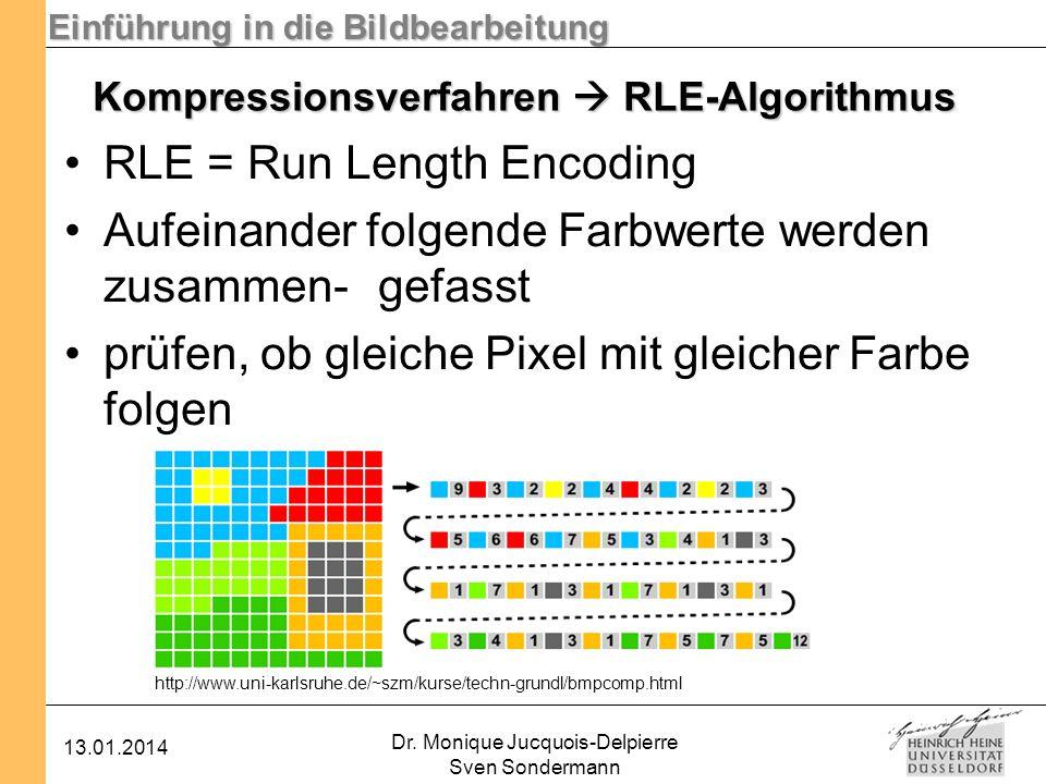 Kompressionsverfahren  RLE-Algorithmus