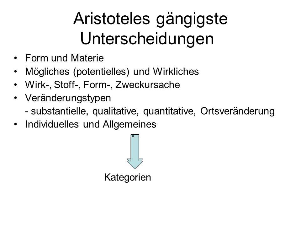 Aristoteles gängigste Unterscheidungen