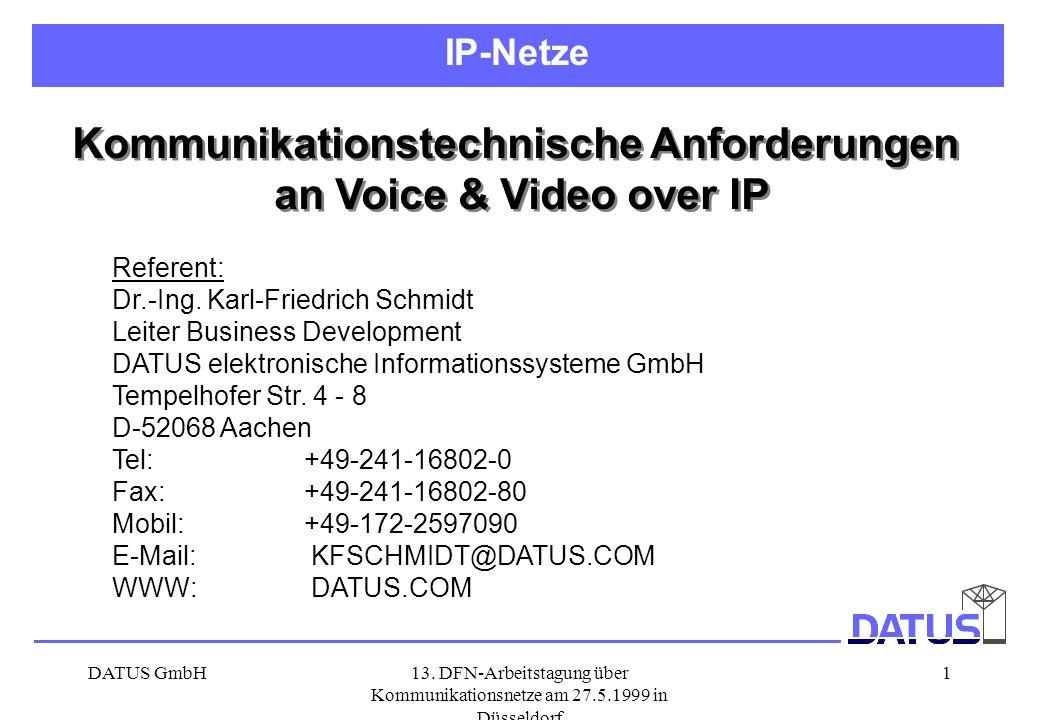 Kommunikationstechnische Anforderungen