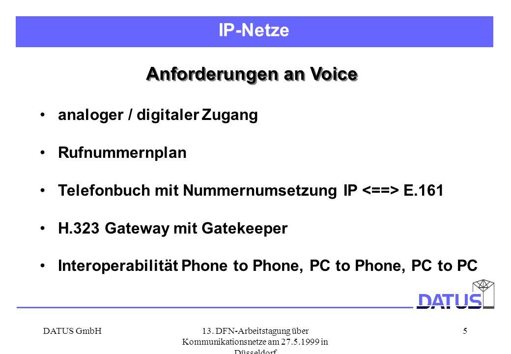 Anforderungen an Voice