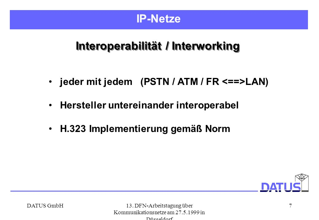 Interoperabilität / Interworking