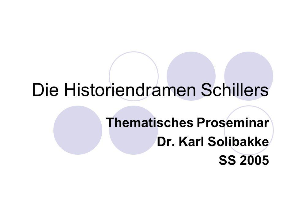 Die Historiendramen Schillers