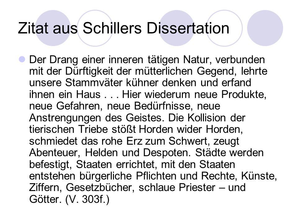 Zitat aus Schillers Dissertation