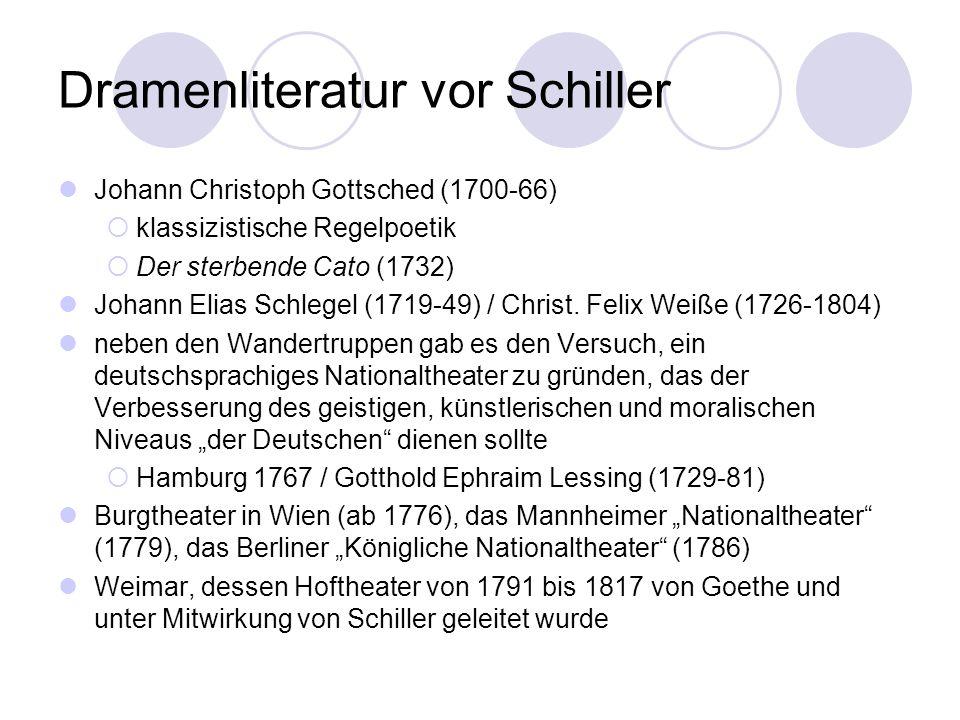Dramenliteratur vor Schiller